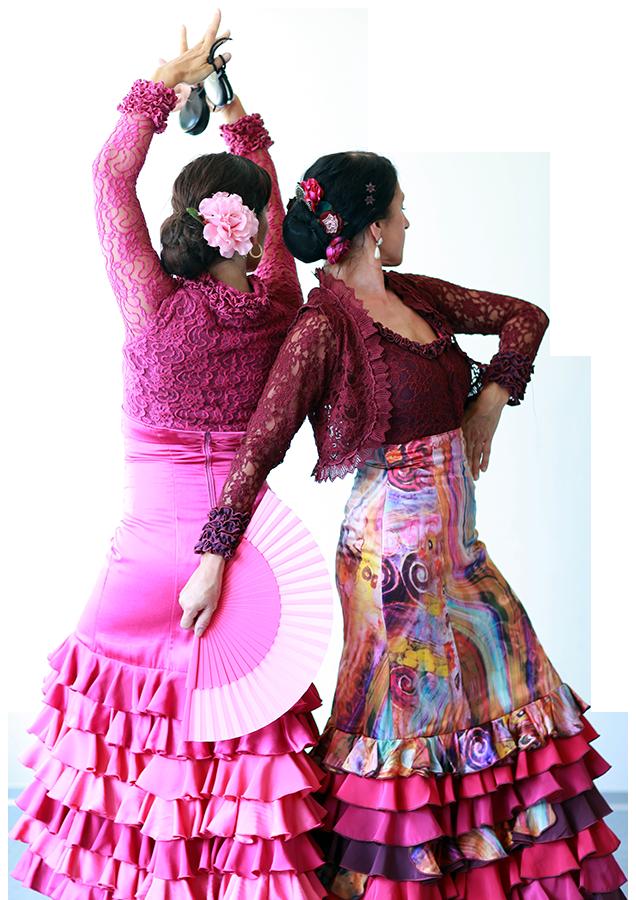 Taenzerinnen der Flamenco-Gruppe Almoraima